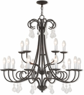 Livex 40879-92 Daphne English Bronze 36  Chandelier Lamp