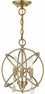 Livex 40903-01 Aria Contemporary Antique Brass Mini 12  Chandelier Light