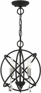 Livex 40903-04 Aria Contemporary Black Mini 12  Chandelier Lighting