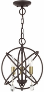 Livex 40903-07 Aria Contemporary Bronze Mini 12  Lighting Chandelier