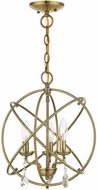Livex 40904-01 Aria Contemporary Antique Brass Mini 15  Chandelier Lamp