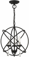 Livex 40904-04 Aria Contemporary Black Mini 15  Chandelier Light