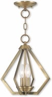 Livex 40922-01 Prism Contemporary Antique Brass Foyer Lighting