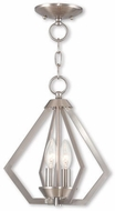 Livex 40922-91 Prism Modern Brushed Nickel Entryway Light Fixture