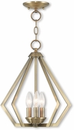 Livex 40923-01 Prism Modern Antique Brass Foyer Lighting