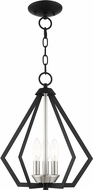 Livex 40923-04 Prism Contemporary Black with Brushed Nickel Cluster Foyer Light Fixture