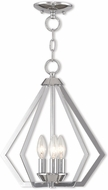 Livex 40923-05 Prism Modern Polished Chrome Foyer Light Fixture