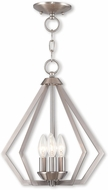 Livex 40923-91 Prism Modern Brushed Nickel Entryway Light Fixture