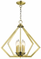 Livex 40925-01 Prism Modern Antique Brass Foyer Lighting