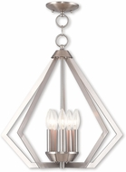 Livex 40925-91 Prism Modern Brushed Nickel Entryway Light Fixture