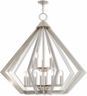 Livex 40928-91 Prism Contemporary Brushed Nickel Chandelier Lamp