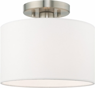 Livex 41095-91 Clark Modern Brushed Nickel 10  Ceiling Light Fixture