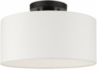 Livex 41097-04 Meridian Modern Black 13  Overhead Lighting Fixture
