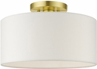Livex 41097-12 Meridian Modern Satin Brass 13  Ceiling Lighting