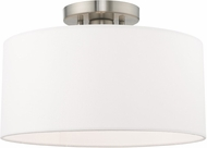 Livex 41097-91 Clark Contemporary Brushed Nickel 13  Flush Lighting