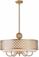 Livex 41105-33 Arabesque Soft Gold 24  Drum Pendant Lighting Fixture