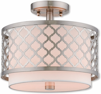 Livex 41107-91 Arabesque Brushed Nickel Overhead Lighting Fixture