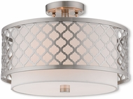 Livex 41108-91 Arabesque Brushed Nickel Ceiling Light