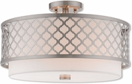Livex 41109-91 Arabesque Brushed Nickel Ceiling Light Fixture