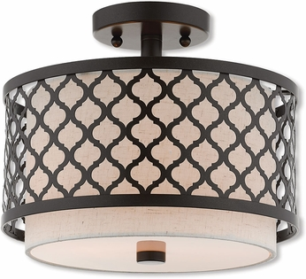 Livex 41111-92 Arabesque English Bronze Ceiling Lighting Fixture