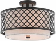 Livex 41112-92 Arabesque English Bronze Ceiling Light Fixture