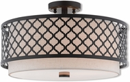 Livex 41113-92 Arabesque English Bronze Flush Lighting