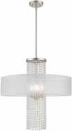 Livex 41122-91 Bella Vista Brushed Nickel 24  Hanging Pendant Light