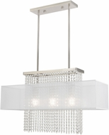 Livex 41123-91 Bella Vista Brushed Nickel Kitchen Island Lighting