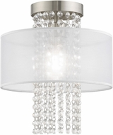 Livex 41124-91 Bella Vista Brushed Nickel 11  Flush Mount Lighting