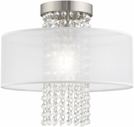 Livex 41125-91 Bella Vista Brushed Nickel 13  Overhead Lighting
