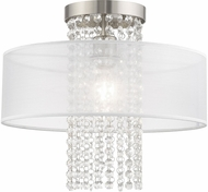 Livex 41126-91 Bella Vista Brushed Nickel 15  Flush Mount Light Fixture