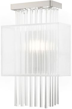 Livex 41140-91 Alexis Brushed Nickel Wall Light Sconce