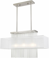 Livex 41143-91 Alexis Brushed Nickel Kitchen Island Light