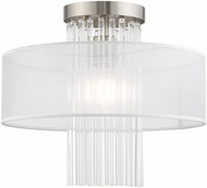Livex 41146-91 Alexis Brushed Nickel 15  Home Ceiling Lighting