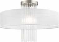 Livex 41147-91 Alexis Brushed Nickel 20  Overhead Light Fixture