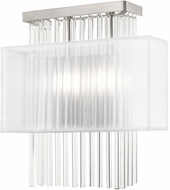 Livex 41148-91 Alexis Brushed Nickel Wall Sconce Light