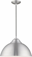 Livex 41180-66 Contemporary Brushed Aluminum Hanging Lamp