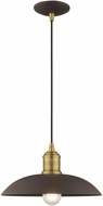 Livex 41193-07 Modern Bronze Hanging Pendant Light