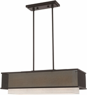 Livex 41204-07 Braddock Contemporary Bronze Island Light Fixture