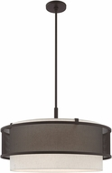 Livex 41206-07 Braddock Contemporary Bronze 24  Drum Ceiling Pendant Light