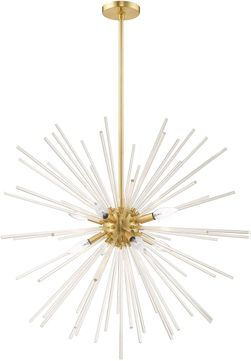 Livex 41258-12 Utopia Satin Brass Chandelier Lighting