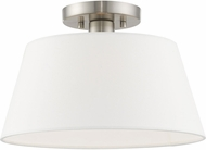 Livex 41312-91 Belclaire Brushed Nickel Ceiling Light Fixture