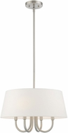 Livex 41314-91 Belclaire Brushed Nickel 18  Drum Pendant Lamp