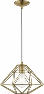 Livex 41323-01 Geometric Shade Modern Antique Brass Hanging Pendant Light