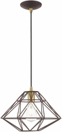 Livex 41323-07 Geometric Shade Contemporary Bronze Pendant Hanging Light