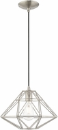 Livex 41323-91 Geometric Shade Modern Brushed Nickel Hanging Light Fixture