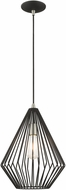 Livex 41325-04 Geometric Shade Modern Black Mini Drop Lighting Fixture
