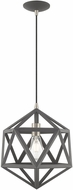 Livex 41328-76 Geometric Shade Modern Scandinavian Gray Hanging Light