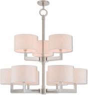 Livex 42409-91 Hayworth Contemporary Brushed Nickel Ceiling Chandelier