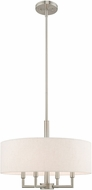 Livex 42604-91 Meridian Brushed Nickel 18  Drum Pendant Hanging Light